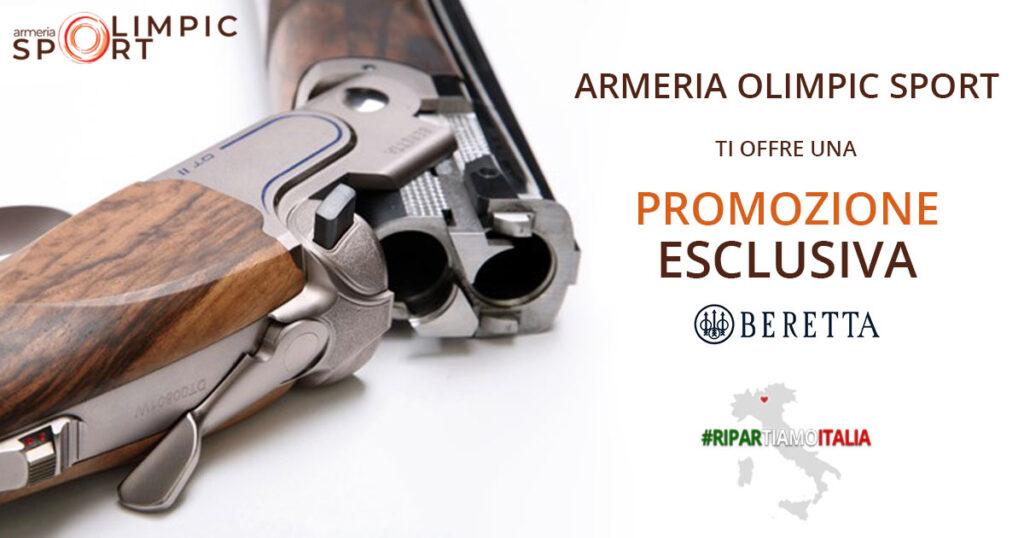 Promozione fucili Beretta | Acquista un fucile Beretta e riceverai 8 pedane da 25 piattelli l'una e un buono sconto del valore di €90,00 presso l'armeria.